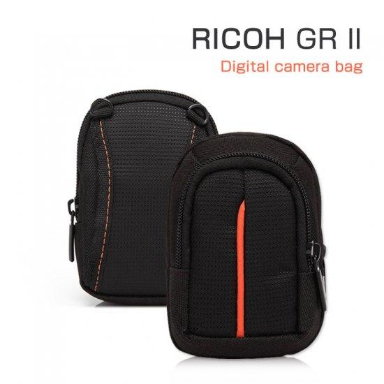 リコー GR IIケース レザー ポーチ カバン型 軽量/薄  RICOH GR II対応ケース デジタルカメラバッグII-ST-A74-T602…