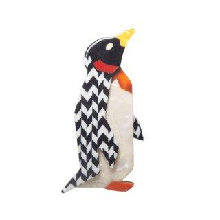 リアスタン・モダンな色彩のペンギンのブローチ