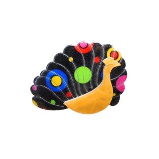 リアスタン・ミッドセンチュリースタイルの 孔雀ブローチ