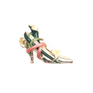 ケネスジェイレーン・銀製ハイヒールのブローチ(箱付)
