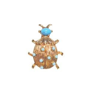 ウエストジャーマニー・可愛いテントウ虫のブローチ