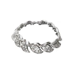 トリファリ・唐草模様の銀色ブレスレット