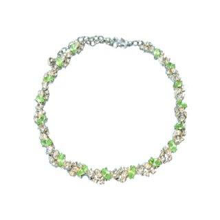 アート・爽やかなペパーミントグリーン色のネックレス