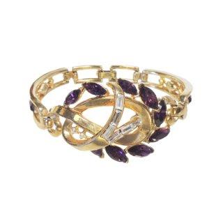 トリファリ・上品な紫ラインストーンのブレスレット(特許)
