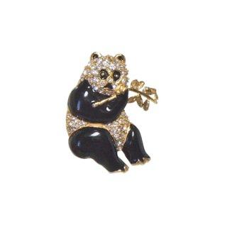 クレメンツ・可愛い小さなパンダのブローチ