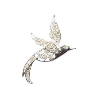 サラコヴェントリー・オーロラ色に煌く極楽鳥のブローチ
