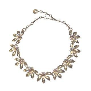 リスナー・ゴールドリーフと煌くお花のネックレス