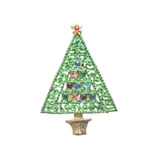 唐草模様風クリスマスツリーブローチ