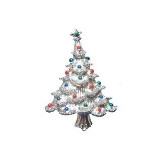 ゲリーズ・銀色のクリスマスツリーブローチ