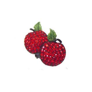 ホリークラフト・赤い林檎のイヤリング