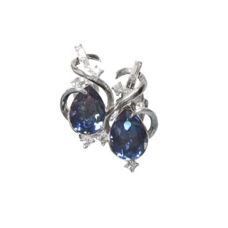 トリファリ・青いインドの宝石のイヤリング(特許)