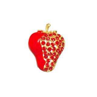クラフト・ラブリーな苺のブローチ