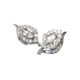 トリファリ・光輝く銀色お花のイヤリング(特許)