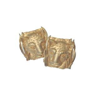 パークレーン・お洒落な金色の豹のピアス