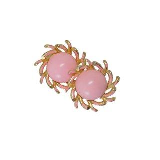 シャレル・レトロモダンなピンクのイヤリング