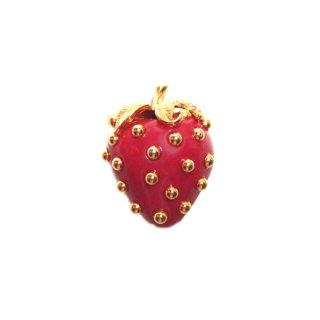ケネスジェイレーン・赤い苺のブローチ