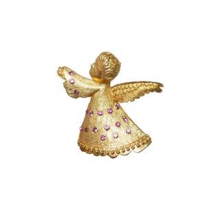 ドッズ・上を見上げる天使のクリスマスブローチ