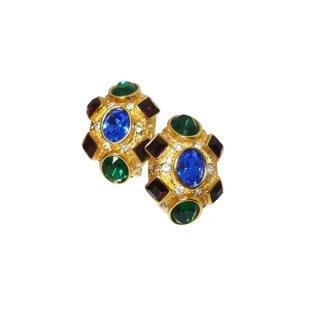ケネスジェイレーン・美しく煌くラインストーンのイヤリング