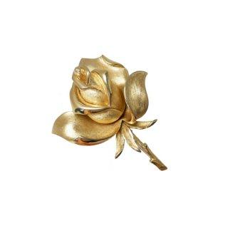 トリファリ・金色の薔薇の上品なブローチ