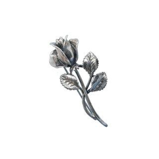 サラコヴェントリー・薔薇の銀製ブローチ