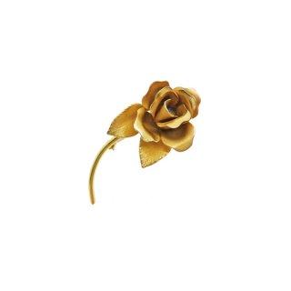 ジョバンニ・一輪の金色の薔薇のブローチ