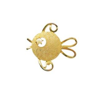 マムゼル・レトロラブリーな魚のブローチ