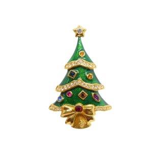 ケネスジェイレーン・エレガントなクリスマスツリーのブローチ