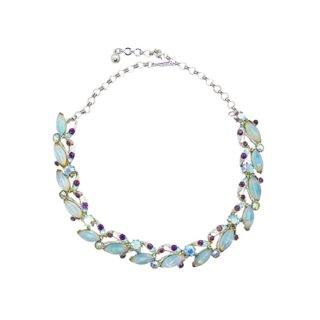 フロレンザ・魅惑的なブルーラインラインストーンのネックレス