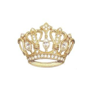 ケネスジェイレーン(Avon)・お洒落な金色の王冠のブローチ