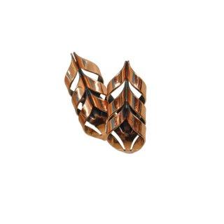 ルノワール・レトロモダンなカッパー色のイヤリング