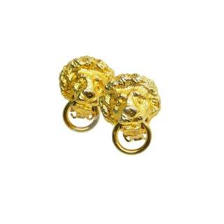 ケネスジェイレーン・金色ライオンの小さなドアノッカーイヤリング