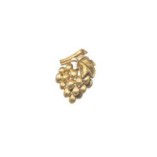 トリファリ・プティサイズの金色葡萄のブローチ