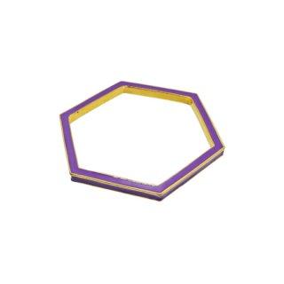 ケイトスペード・モードな紫のヘキサゴンバングル