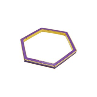 <img class='new_mark_img1' src='https://img.shop-pro.jp/img/new/icons13.gif' style='border:none;display:inline;margin:0px;padding:0px;width:auto;' />ケイトスペード・モードな紫のヘキサゴンバングル