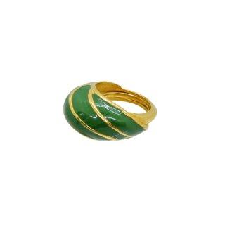 ケネスジェイレーン・モスグリーンとゴールドの上品なリング