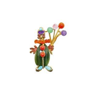 スワボダ・風船を持った小さな道化師のブローチ
