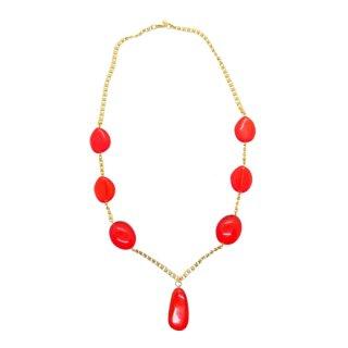 ケネスジェイレーン・色鮮やかなオレンジ色のネックレス(箱付)