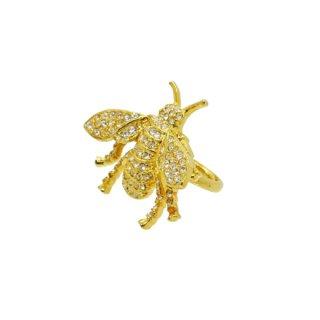 ケネスジェイレーン・大きな金色の蜂のリング
