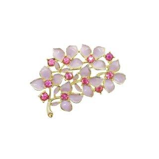 サラコヴェントリー・ラベンダー色のお花のブローチ