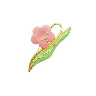 モネ・可愛らしいピンクのお花のブローチ