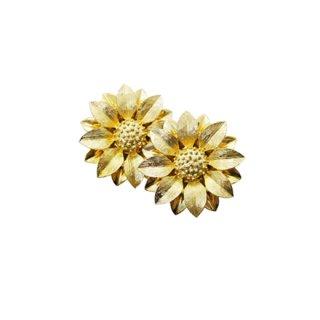 サラコヴェントリー・モダンな金色のお花のイヤリング