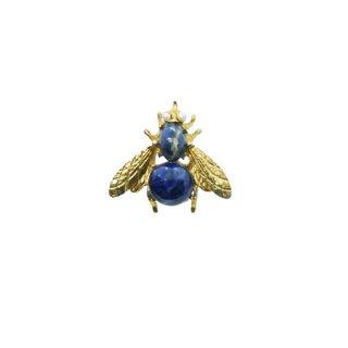 スワボダ・青い天然石の蜂のブローチ