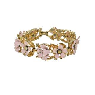 トリファリ・可憐なピンクのお花のブレスレット