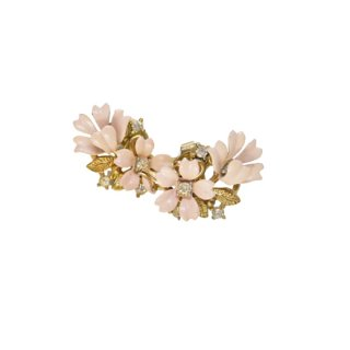 トリファリ・可憐なピンクのお花のイヤリング