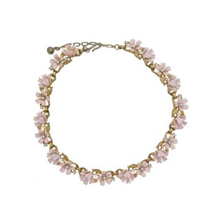 トリファリ・可憐なピンクのお花のネックレス