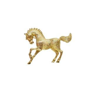 モネ・金色の小さな馬のブローチ