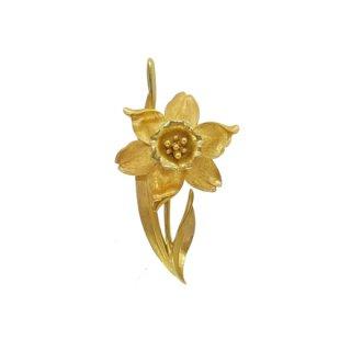 トリファリ・可憐な金色の水仙のブローチ