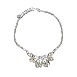 トリファリ・銀色ヘイローフラワーズのネックレス(特許)