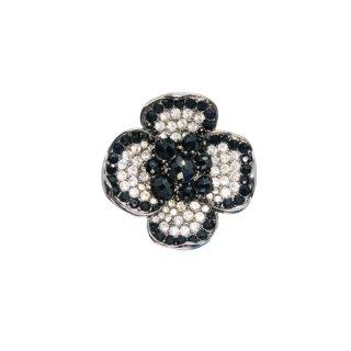 ケネスジェイレーン・シックなラインストーンのお花のブローチ