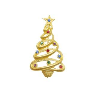 JJ・一筆書きのようなクリスマスツリーブローチ